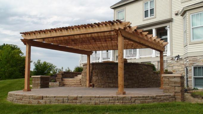pergola arbors deck and patio western red cedar pergolas. Black Bedroom Furniture Sets. Home Design Ideas